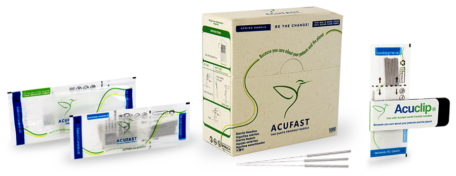 Acufast Acupuncture Needles,Tubes, and the Acuclip